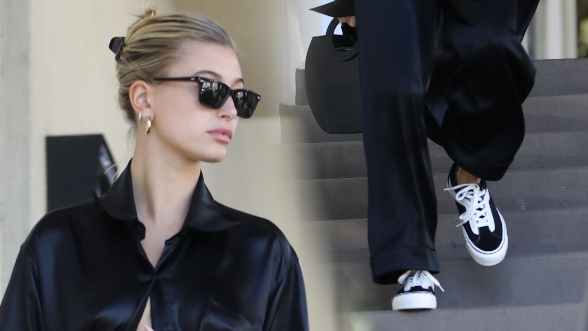 Hailey Bieber w odważnej stylizacji BEZ stanika. Wiedzieliście, że ma kolczyk w TYM miejscu? (ZDJĘCIA)