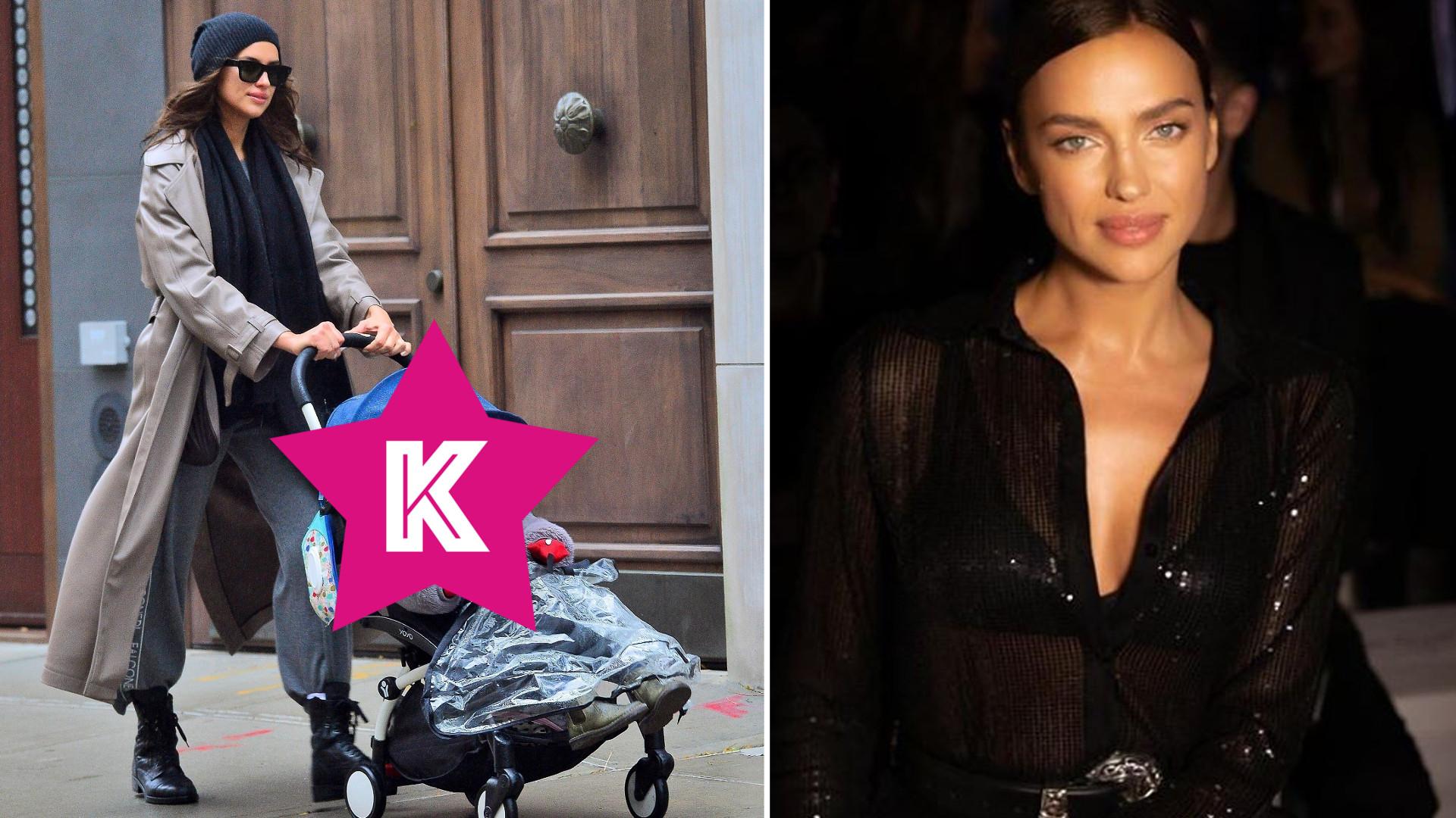 Irina Shayk na jesiennym spacerze z córką. Nawet w dresie modelka wygląda jak milion dolarów