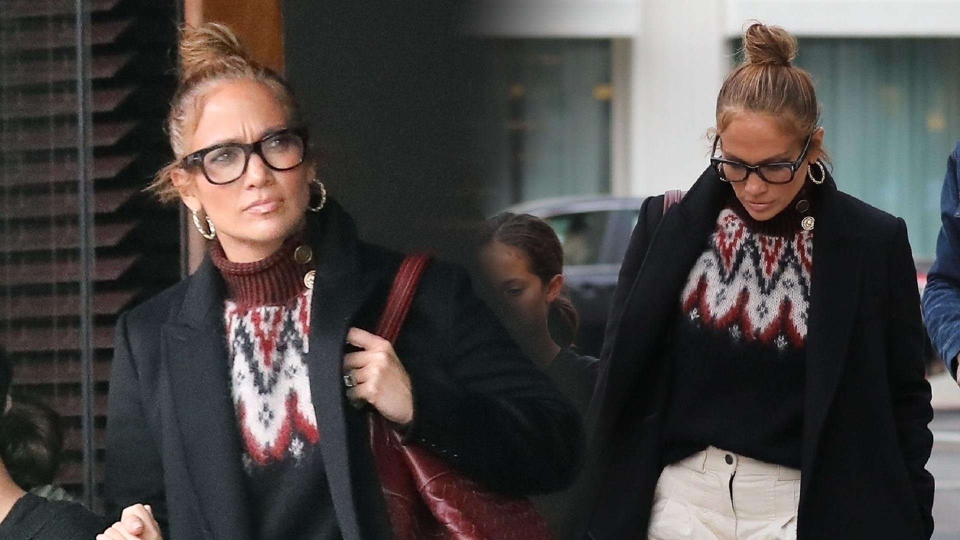 Ty pewnie zabiłabyś się w takich BUTACH – Jennifer Lopez poszła w nich na lunch z narzeczonym i córką (ZDJĘCIA)