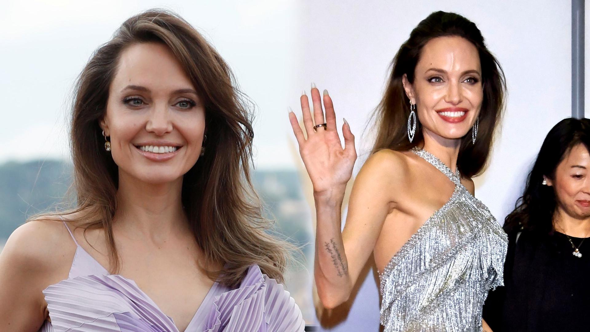 Angelina Jolie w blond peruce i złotej zbroi na planie nowego filmu (FOTO)