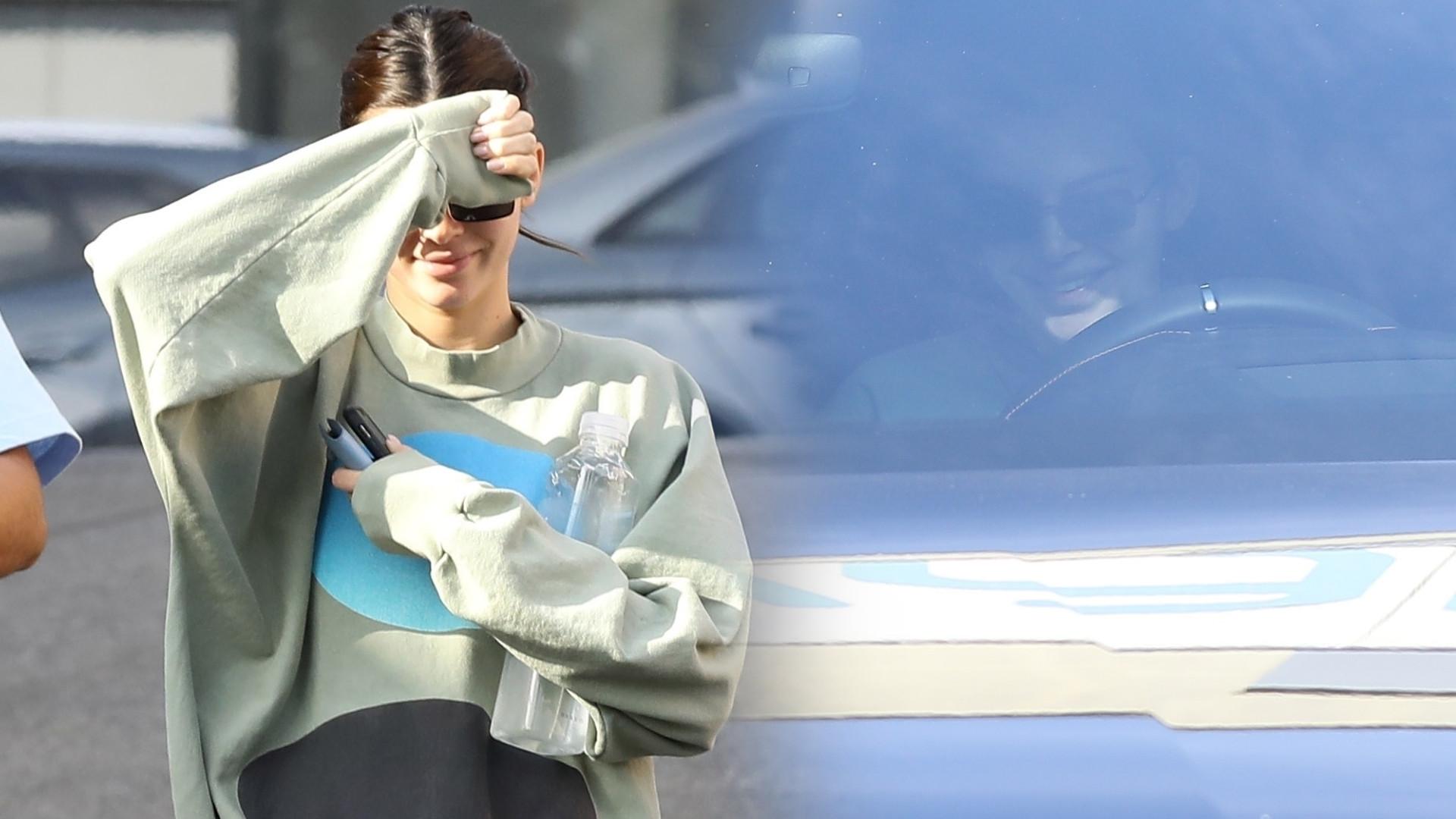 Kendall Jenner sfotografowana podczas schadzki z chłopakiem – próbowała ukryć się przed paparazzi (ZDJĘCIA)
