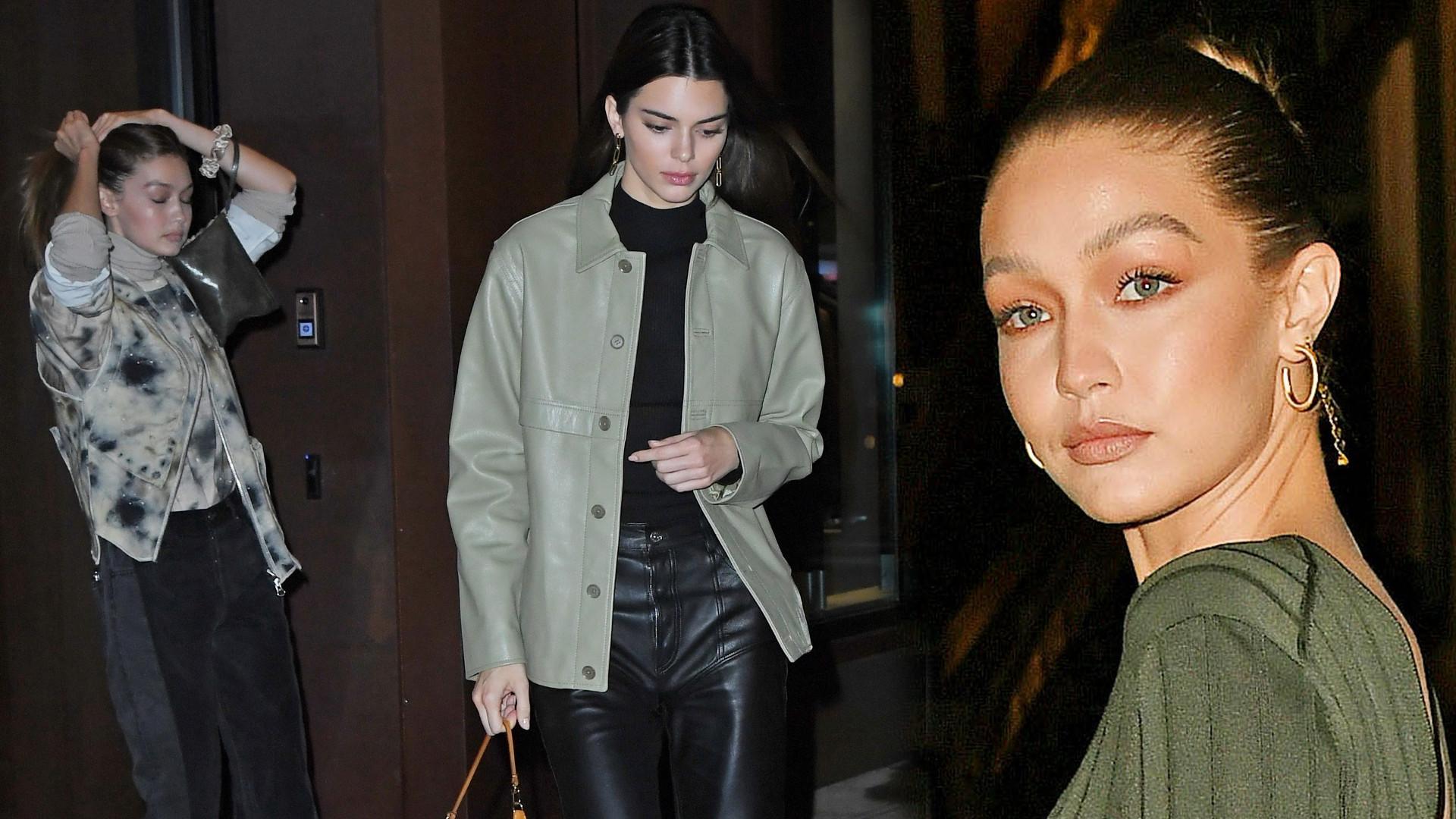 Gigi Hadid i Kendall Jenner na babskim wieczorze w Nowym Jorku. Co się dzieje z twarzą Gigi?