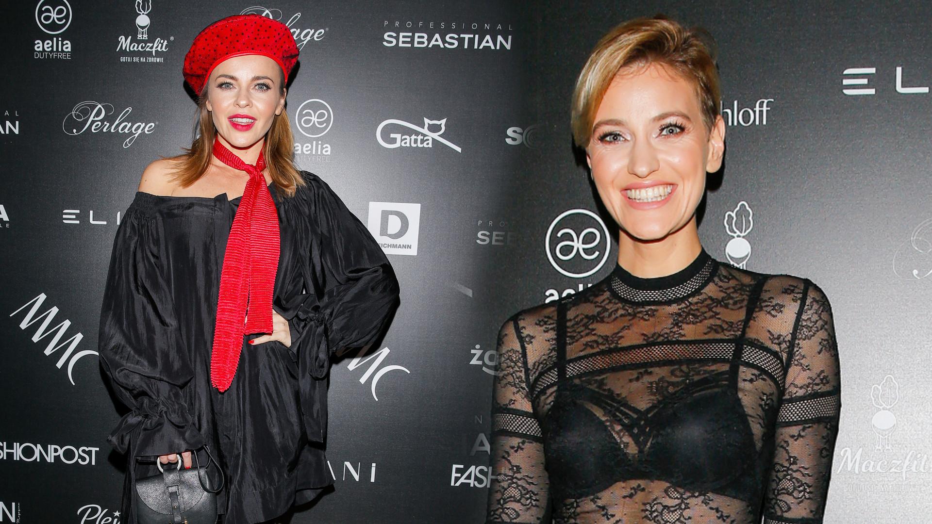 Gwiazdy na pokazie MMC: Drapieżna Lara Gessler i Renata Kaczoruk w przezroczystych bluzkach (FOTO)