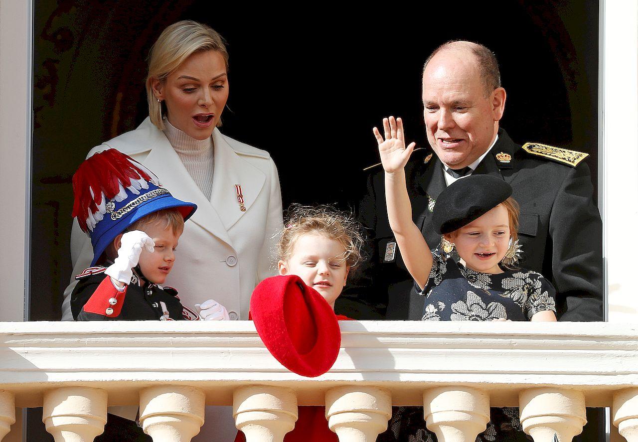 Książę Albert z rodziną