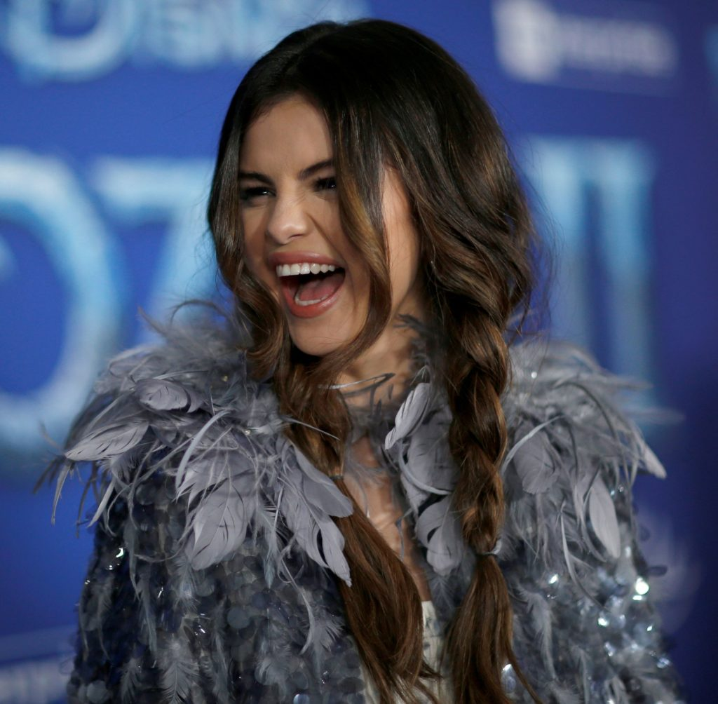 Selena Gomez na premierze Frozen