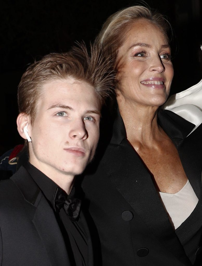 Sharon Stone z synem Roanem