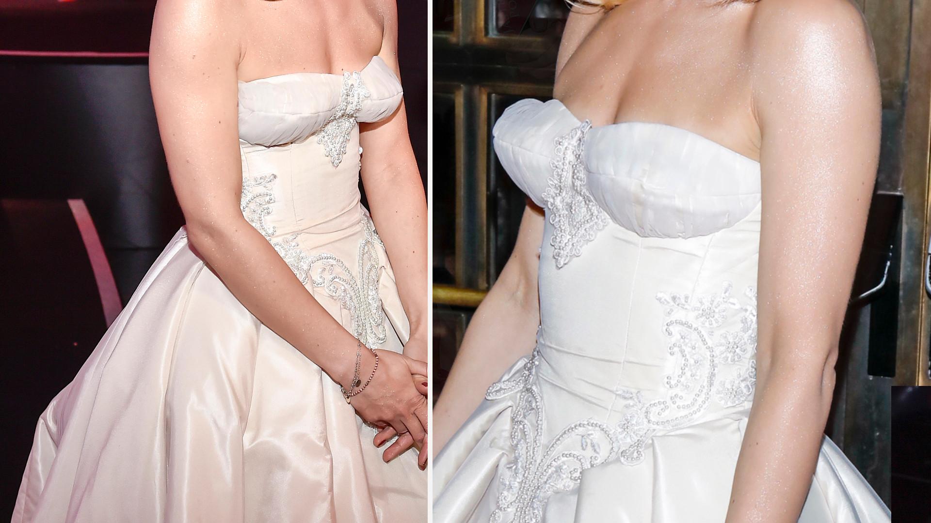 Nie uwierzysz, która gwiazda tak zmasakrowała swój biust w za małej sukience! (FOTO)