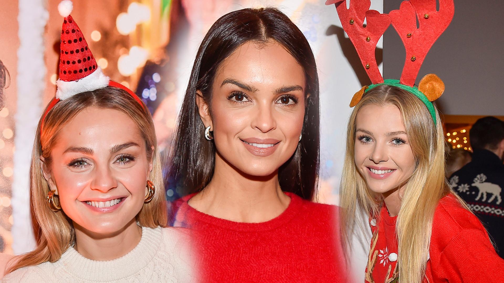 Klaudia El Dursi w świątecznej czerwieni, Małgorzata Socha w czapce Mikołaja i inne gwiazdy na evencie marki jubilerskiej