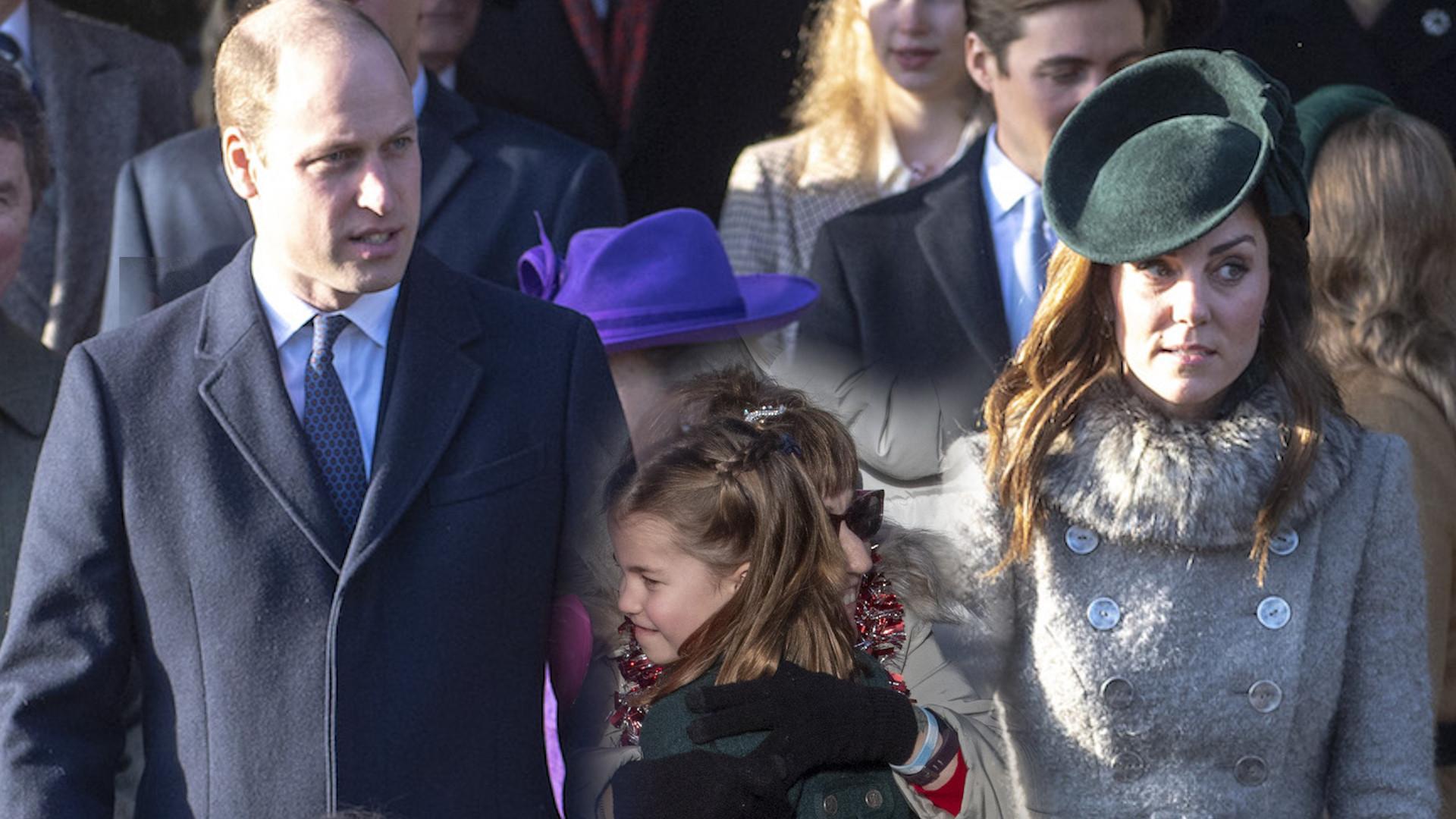 Debiut księżniczki Charlotte i księcia Georga w Boże Narodzenie. Nie obyło się bez małego incydentu(WIDEO)