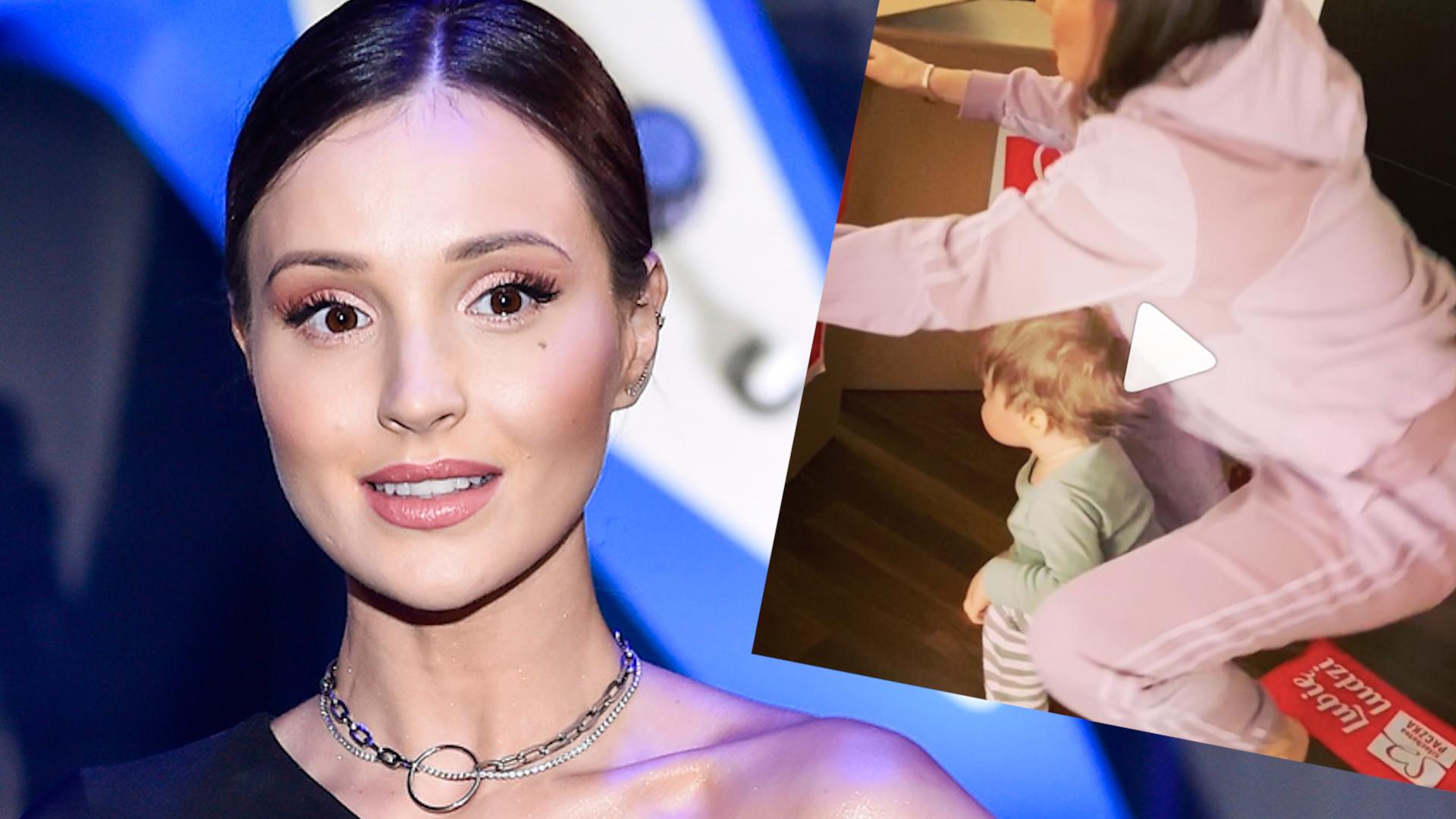Marina i Wojtek w domowym zaciszu nagrali filmik dla SZLACHETNEJ PACZKI. Uwagę skrada Liam