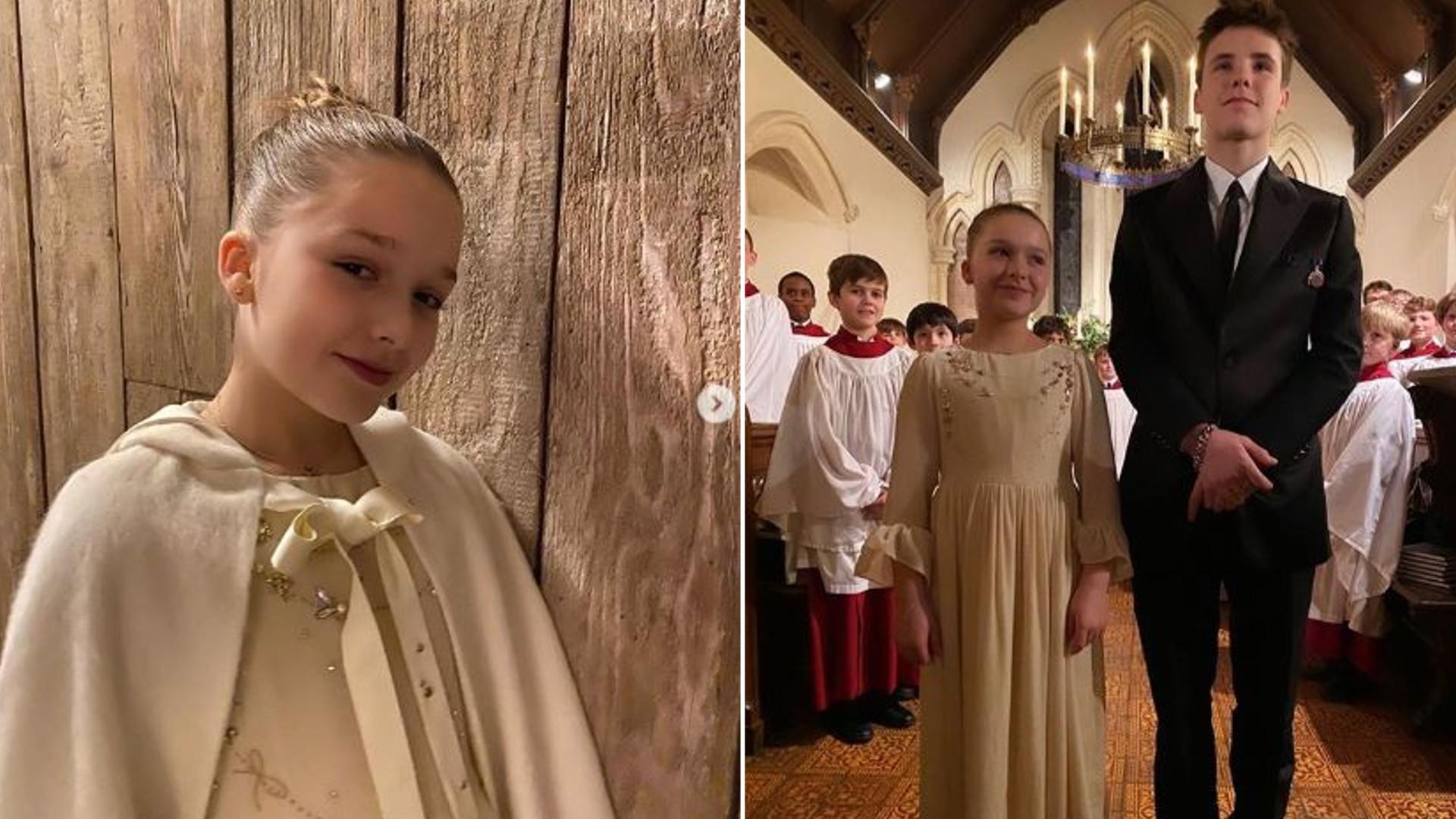 Harper i Cruz Beckhamowie zostali ochrzczeni – mama Vicky zachwycona córeczką