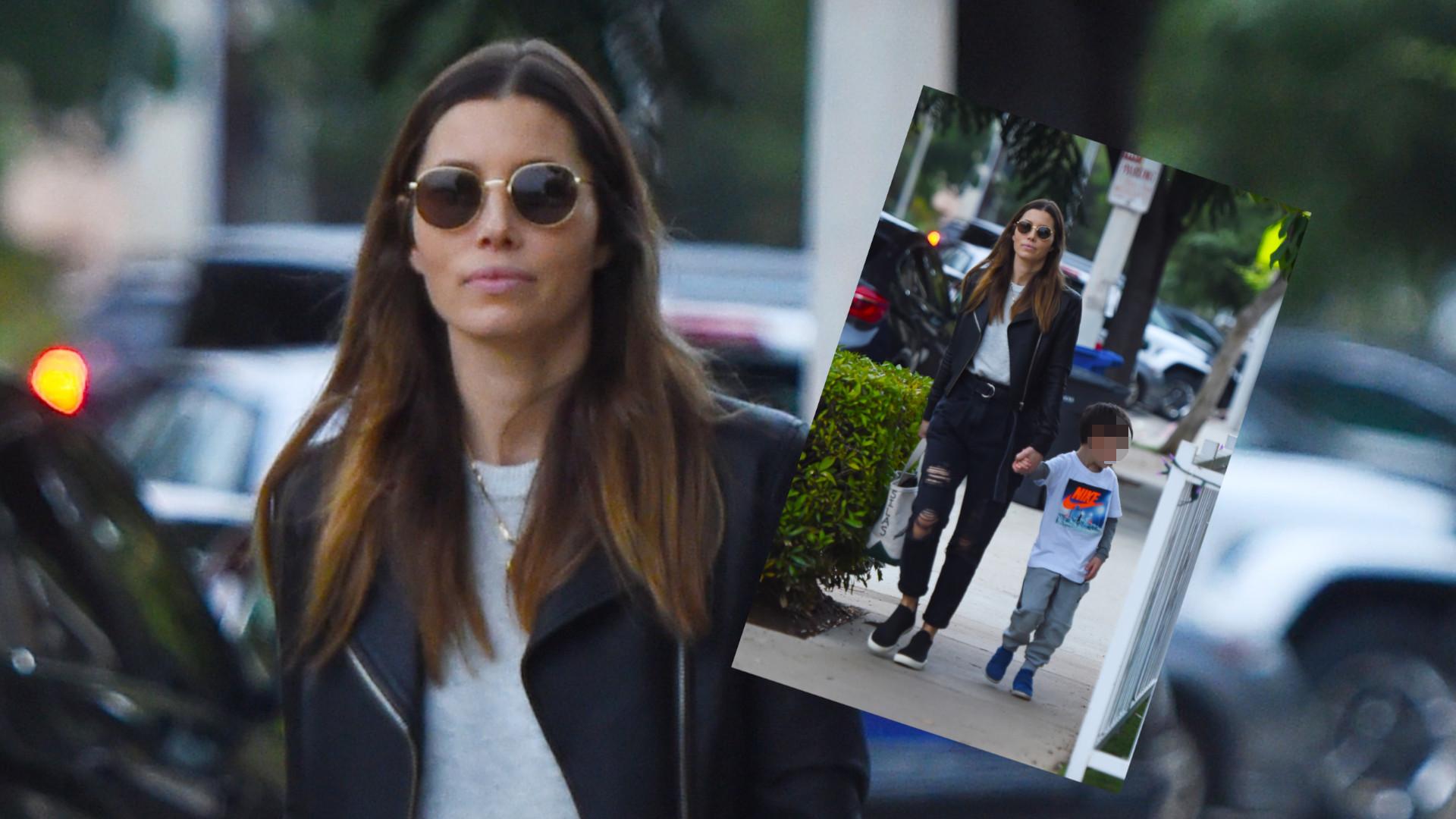 Jessica Biel nie daje się zwariować plotkom o zdradzie męża – paparazzi podglądali ją na spacerze z synem (ZDJĘCIA)