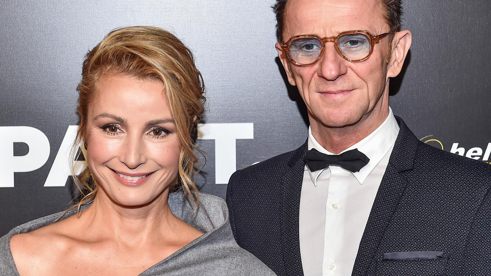 Joanna Brodzik u boku partnera, Pawła Wilczaka, na premierze filmu Pan T. (ZDJĘCIA)