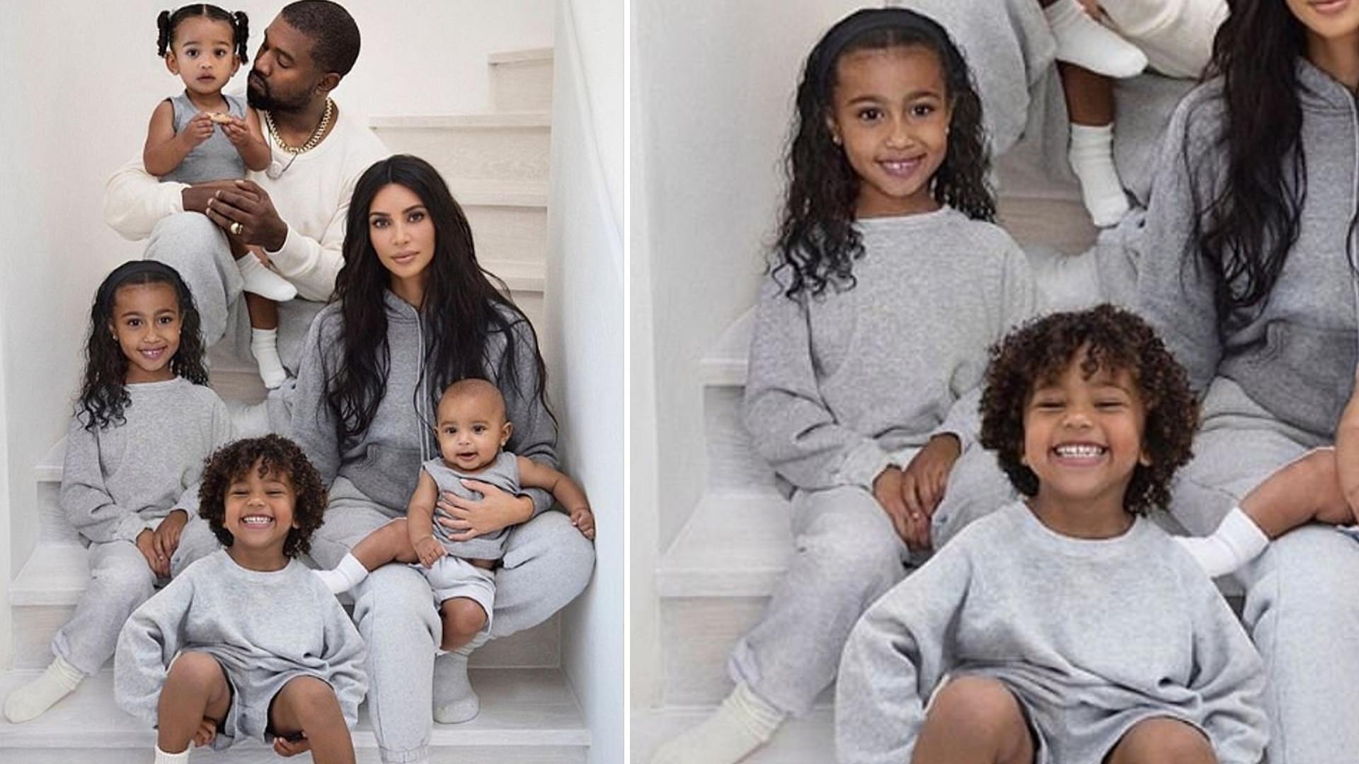 Kim Kardashian przyznała, że sfotoszopowała North na świątecznym zdjęciu rodziny