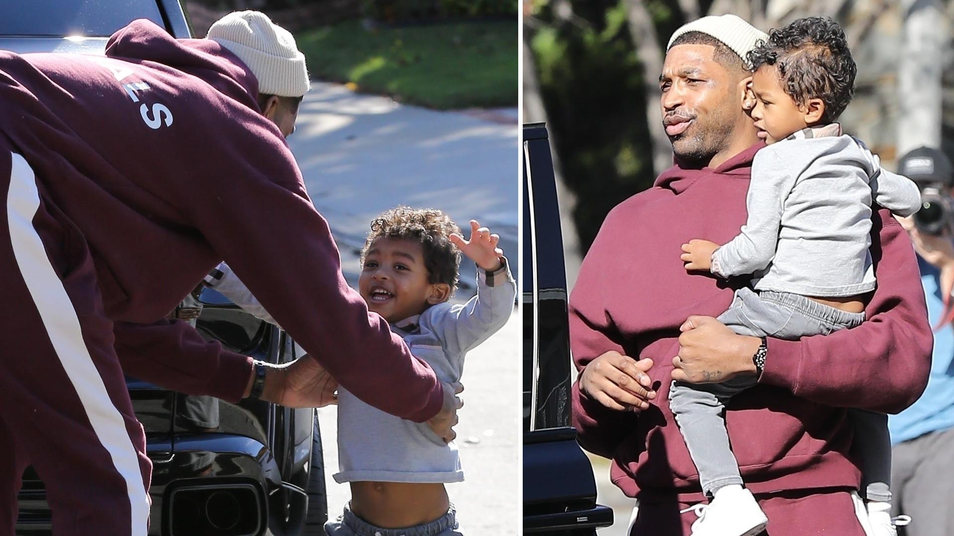 Patrzcie, jakim czułym ojcem jest były chłopak Khloe Kardashian – Tristan zabrał 3-letniego syna na zakupy (ZDJĘCIA)
