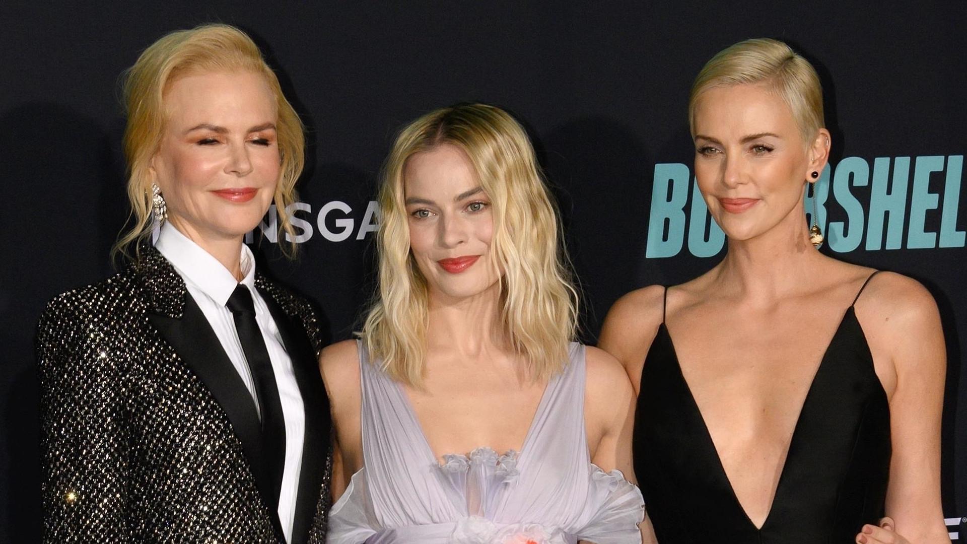 """To się nazywa KLASA! Nicole Kidman, Charlize Theron i Margot Robbie na premierze filmu """"Bombshell"""" (ZDJĘCIA)"""