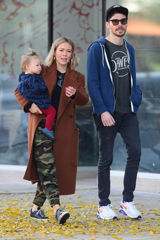 Hilary Duff z rodziną.