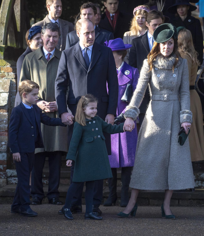 Kate i William z dziećmi podczas świąt