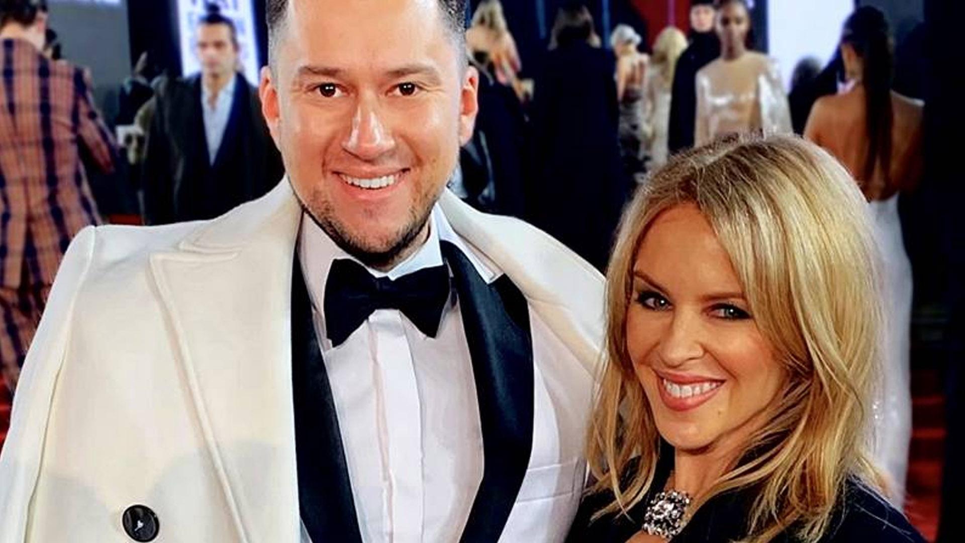 Łukasz Kedzior na gali Fashion Awards w Londynie spotkał się z Kylie Minogue!