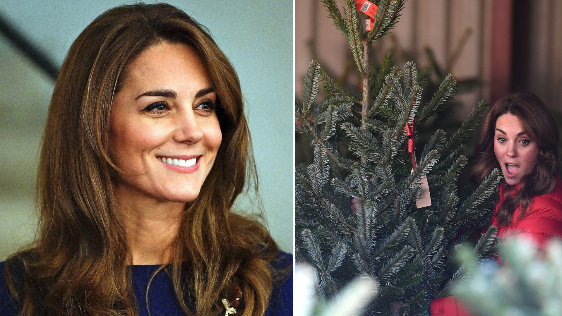 Księżna Kate robi urocze miny, podczas wybierania choinki. Zaskoczyła najmłodszych fanów (ZDJĘCIA)
