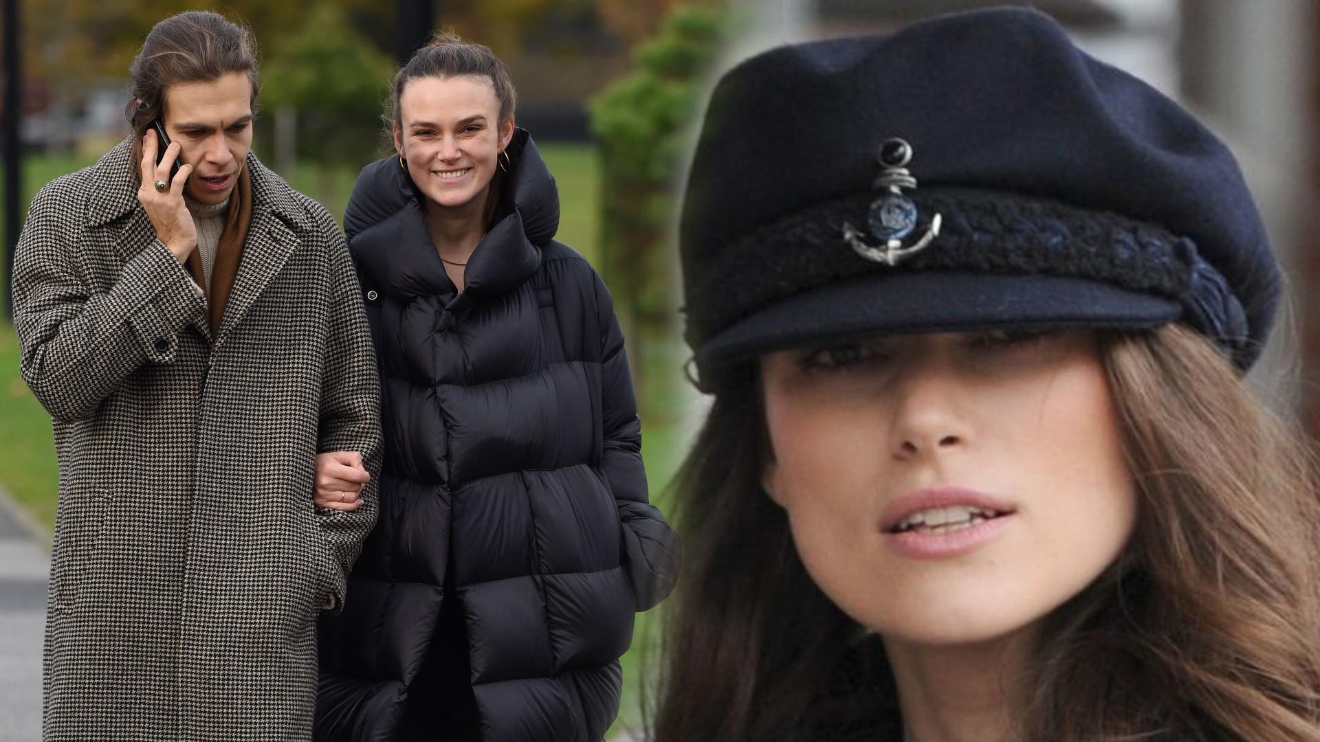 Keira Knightley opatulona jak bałwan, idzie z mężem na randkę (ZDJĘCIA)