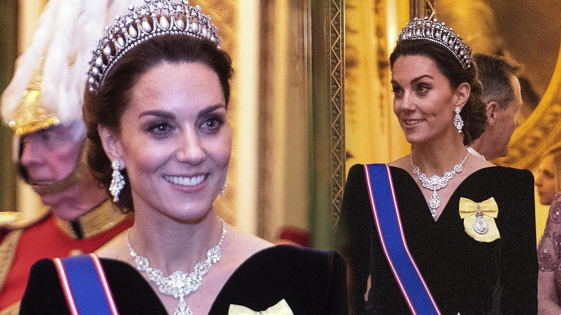 Elegancka (i BARDZO chuda) księżna Kate na przyjęciu w Pałacu Buckingham (ZDJĘCIA)