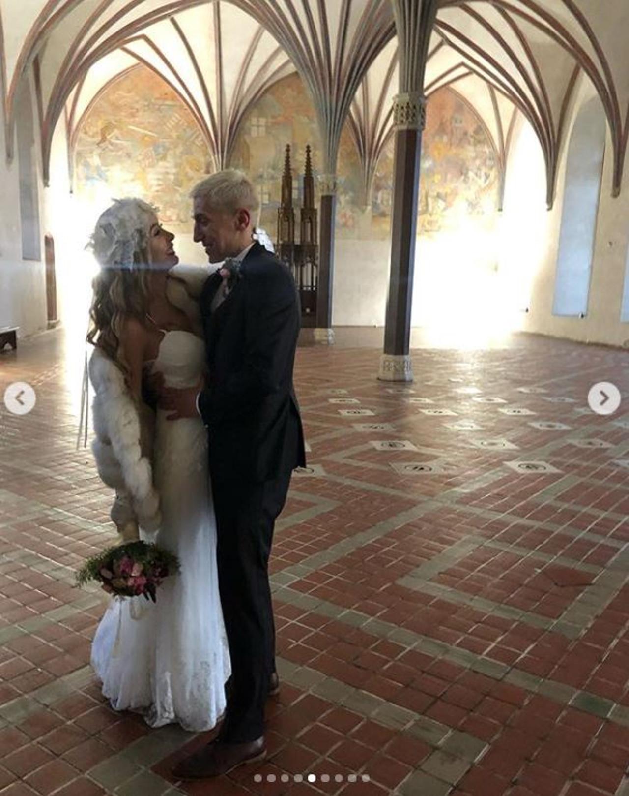 Karolina Zawadzka z mężem