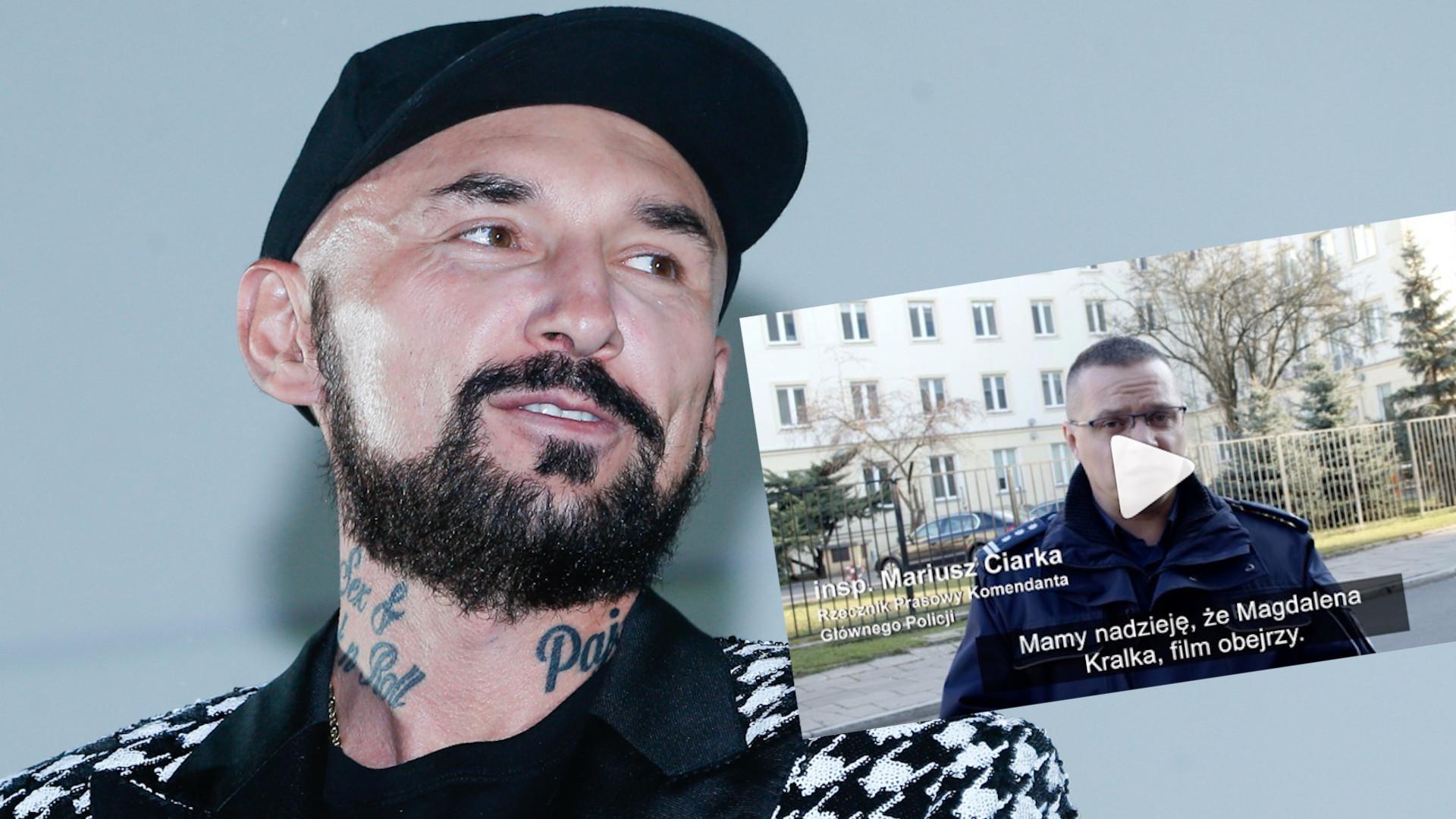 """Polska policja ODPOWIADA Patrykowi Vedze: """"My z naszej strony wysłaliśmy zaproszenie, przygotowaliśmy bilet lotniczy"""""""