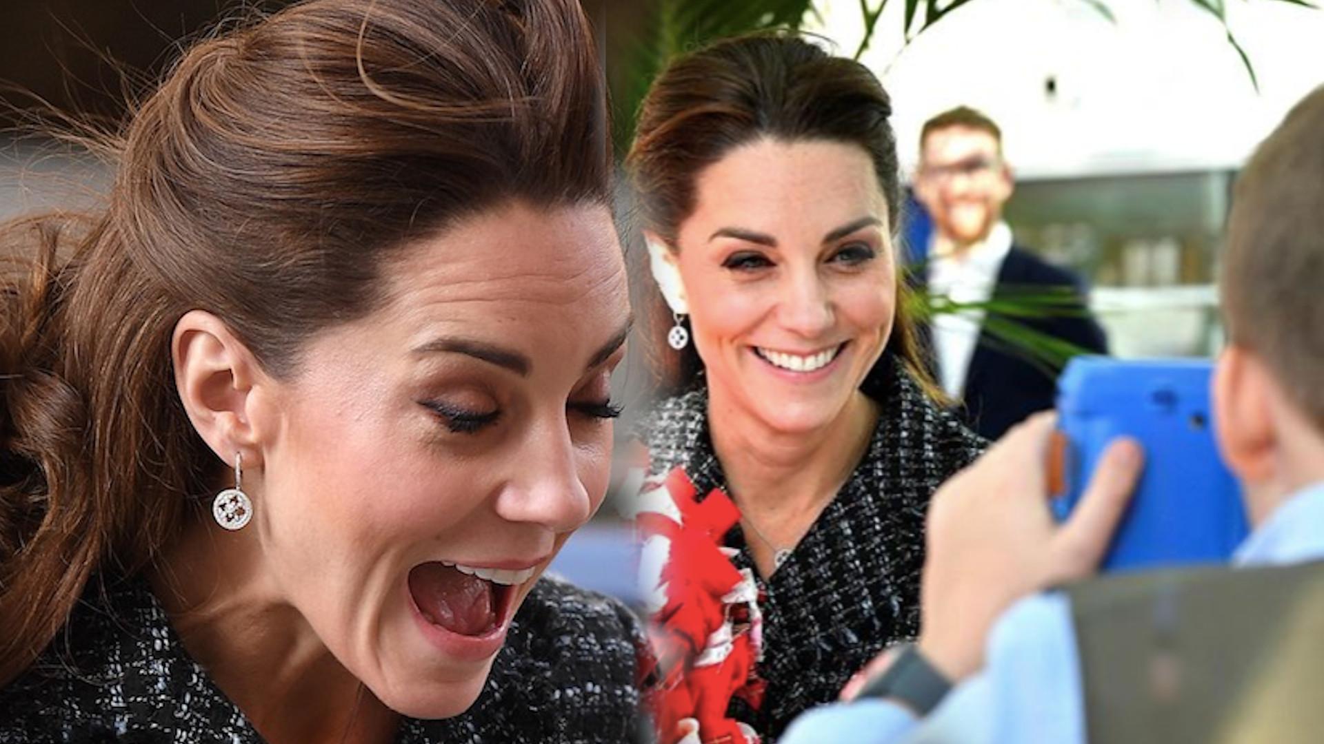 Kate Middleton WALCZY z wiatrem. Spódniczka ledwo trzyma się na księżnej (ZDJĘCIA)