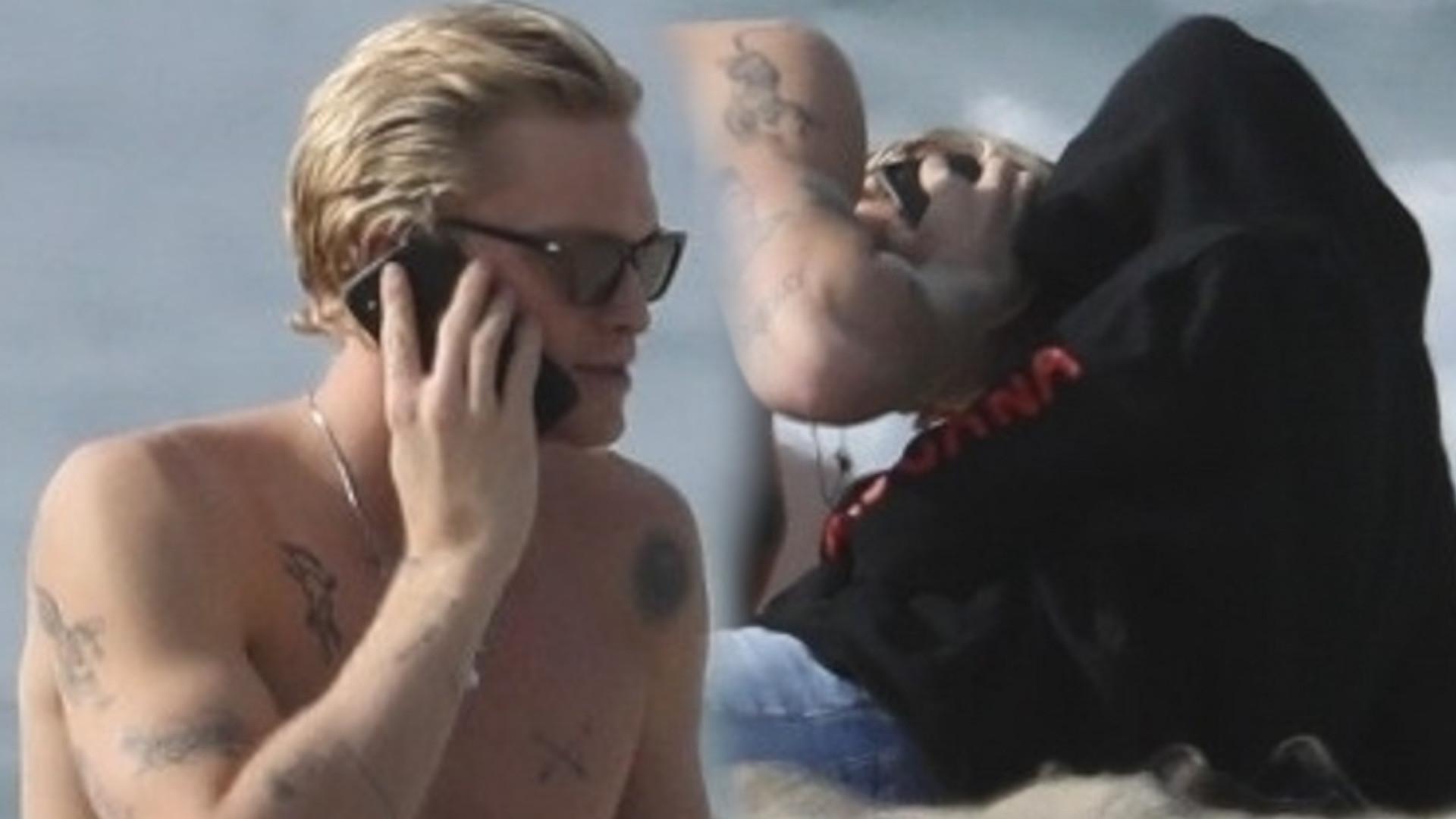 Miley Cyrus i Cody Simpson wypoczywają na plaży w MALIBU. Nie szczędzą sobie uczuć