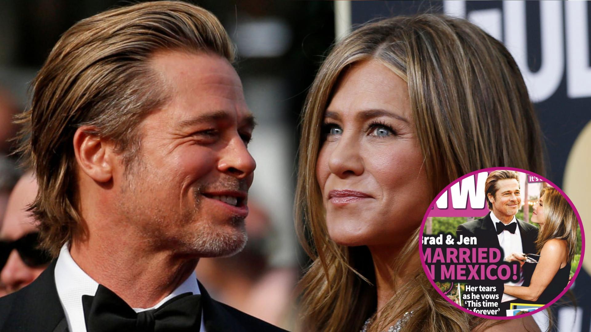 Jennifer Aniston i Brad Pitt WZIĘLI ŚLUB w Meksyku? Tabloid wie nawet, do jakiej piosenki tańczyli pierwszy taniec