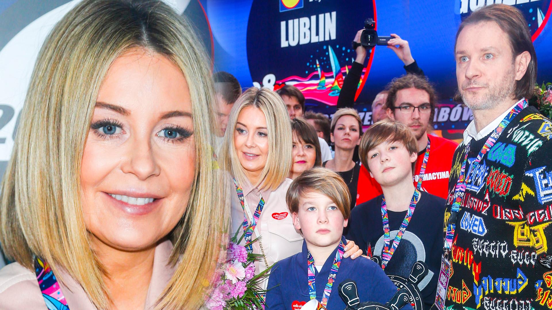 Cała rodzina Małgorzaty Rozenek-Majdan na wielkim finale WOŚP (ZDJĘCIA)