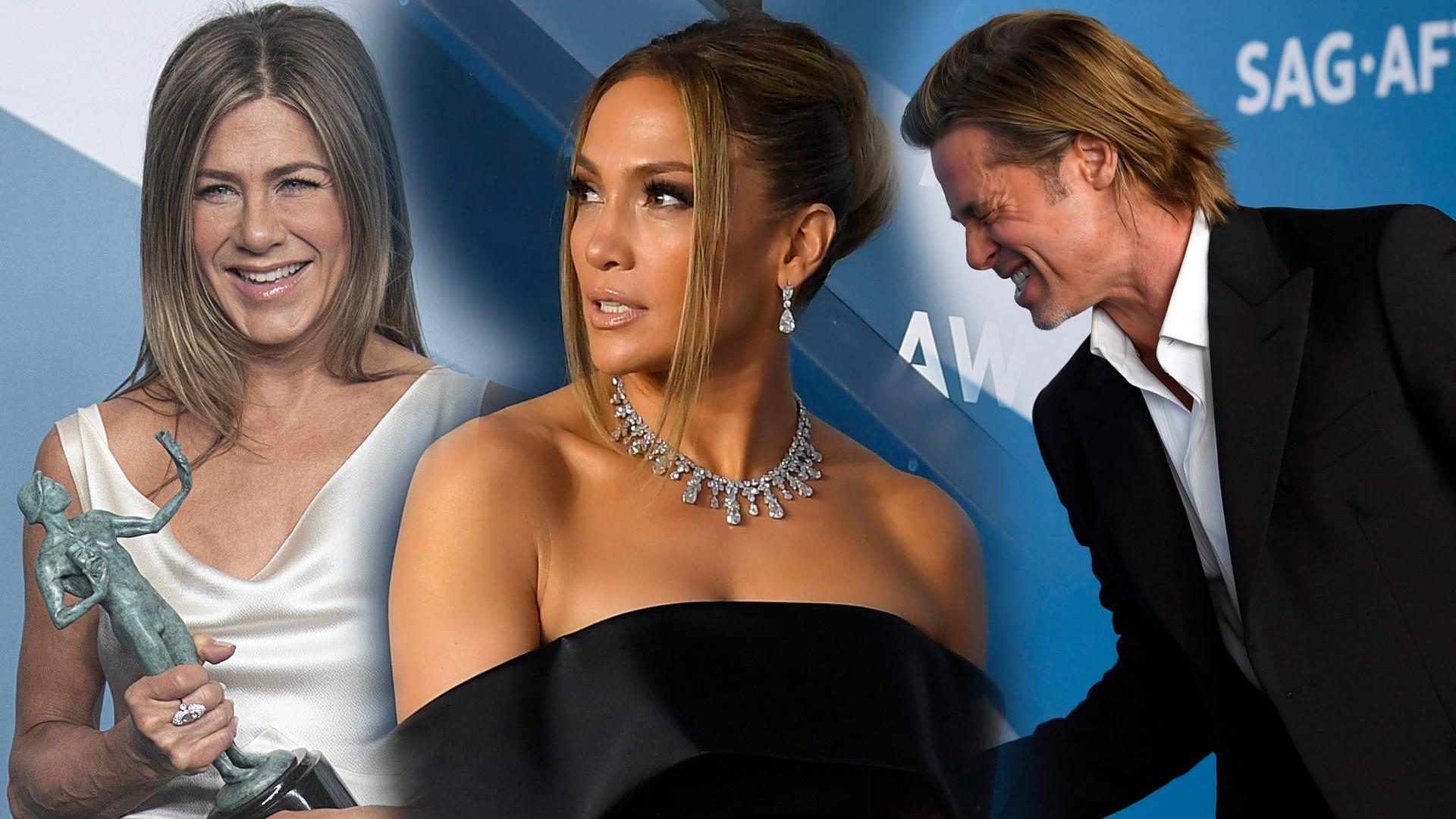 Boska Jennifer Lopez w czerni i Aniston jak bogini – MNÓSTWO zdjęć z gali SAGs Awards!