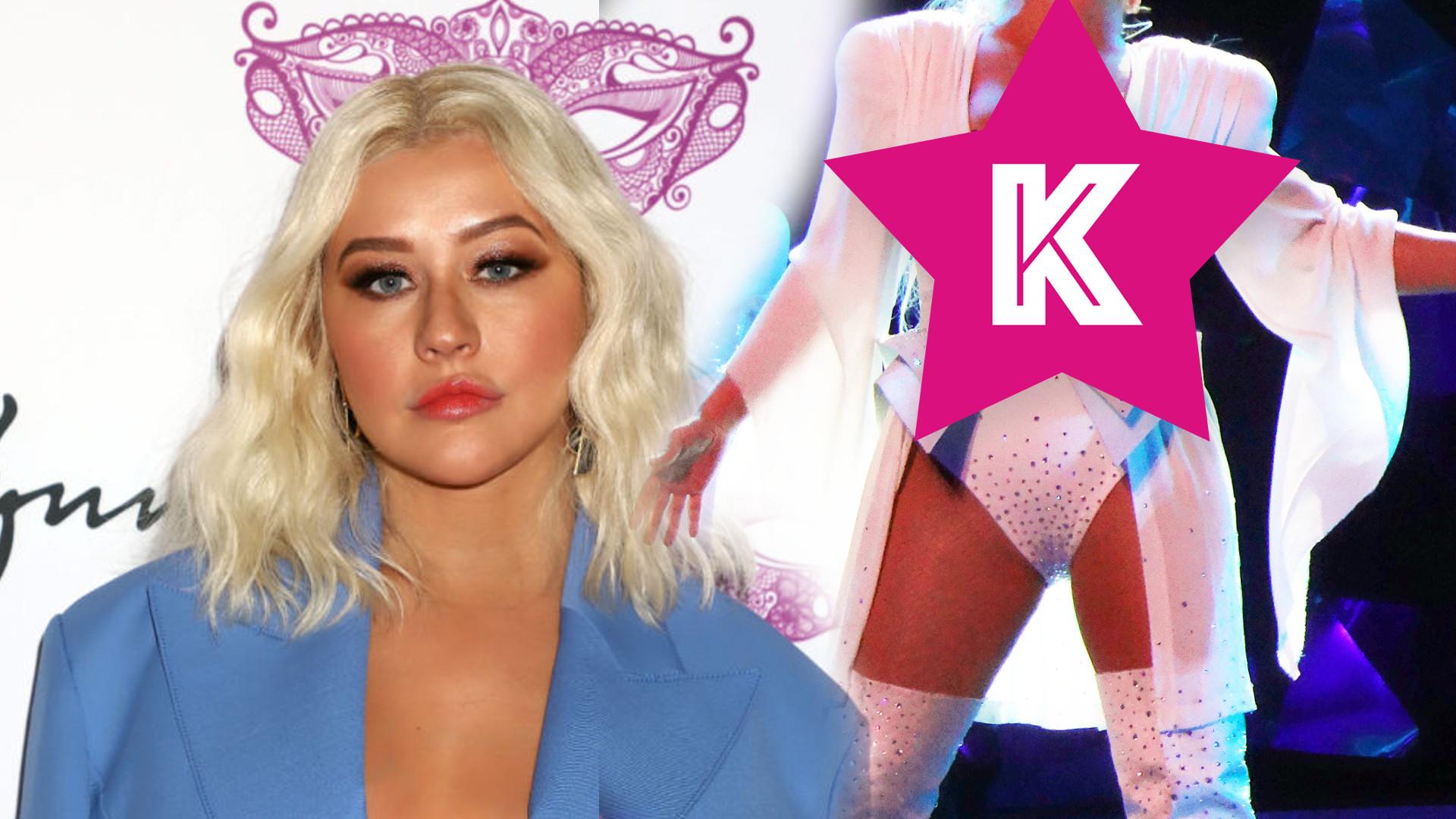 Christina Aguilera przewidziała, że może wypaść jej pierś podczas występu i przygotowała się!