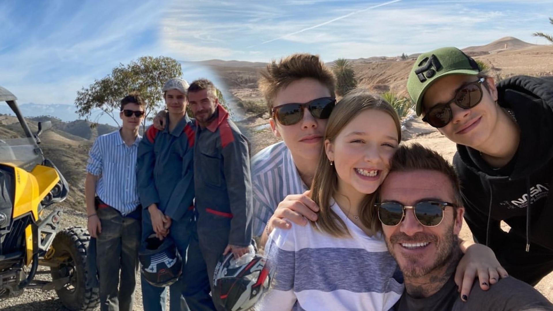 Beckhamowie z dzieciakami na WAKACJACH. Jaki kierunek wybrali? (ZDJĘCIA)