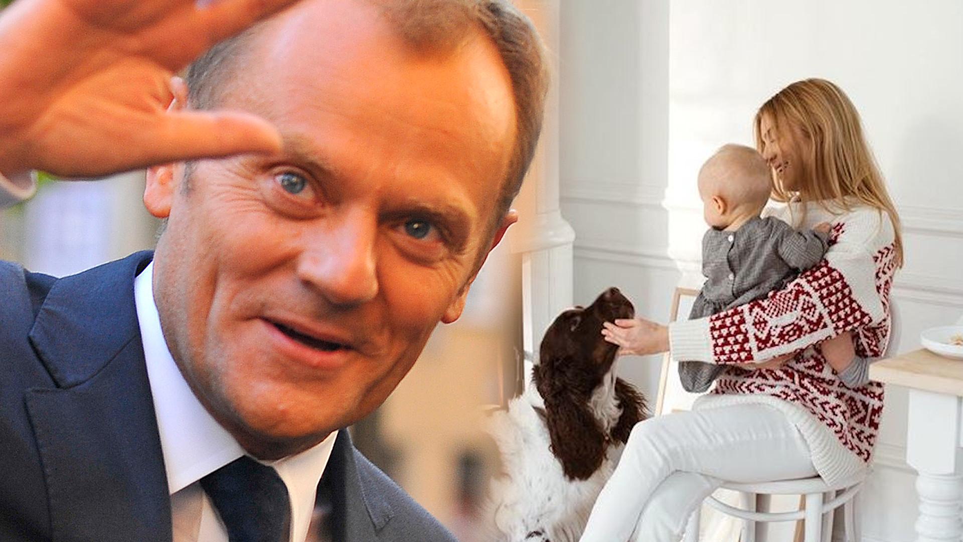 Zdjęcie Donalda Tuska z wnuczką HITEM sieci. Spójrzcie na jego minę