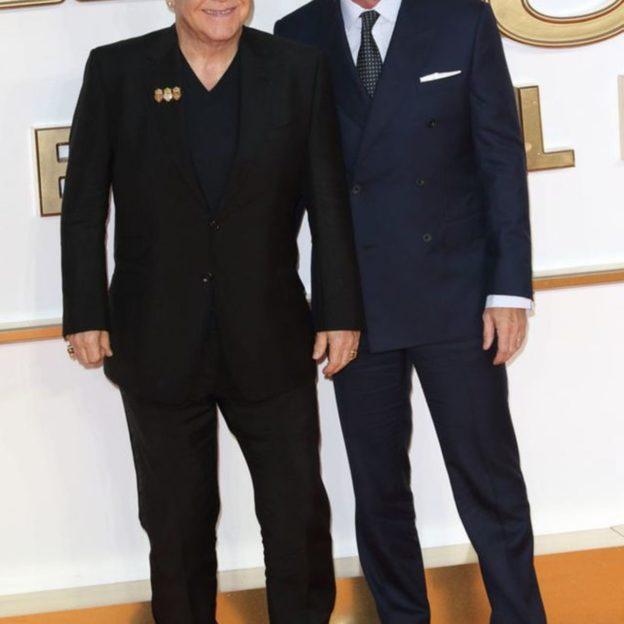 Elton John i  David Furnisher/fot. Forum