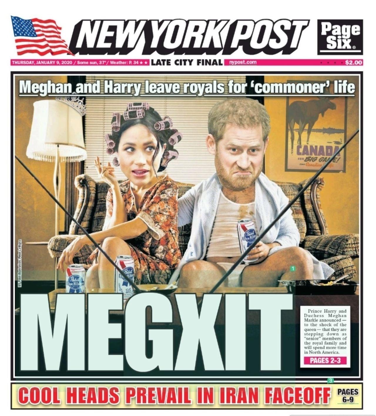 MEGXIT rządzi w sieci – MEMY i najlepsze OKŁADKI o odejściu Meghan i Harry'ego z rodziny królewskiej!