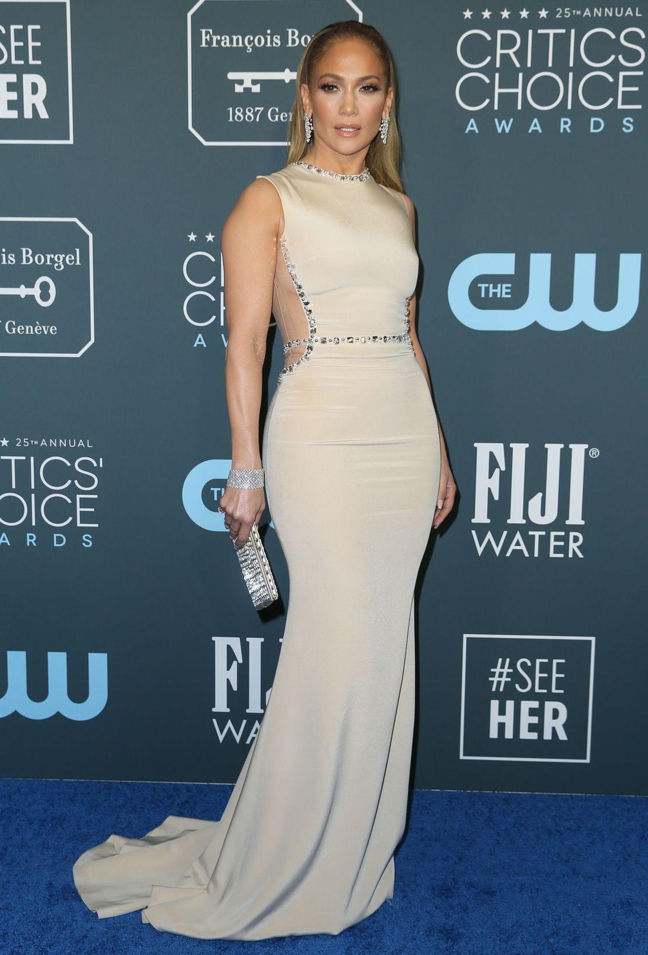 Jennifer Lopez na imprezie branżowej.