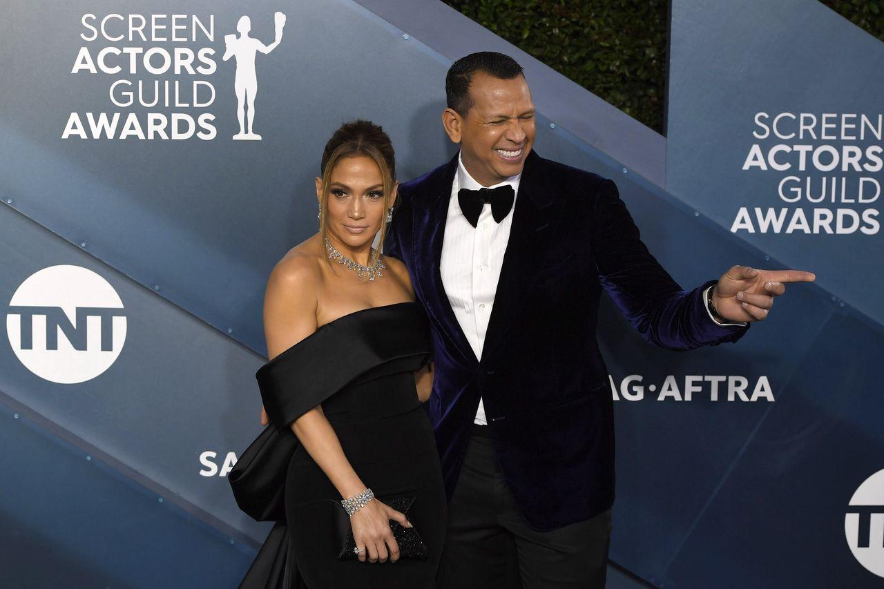 Jennifer Lopez i Alex Rodriguez na ściance