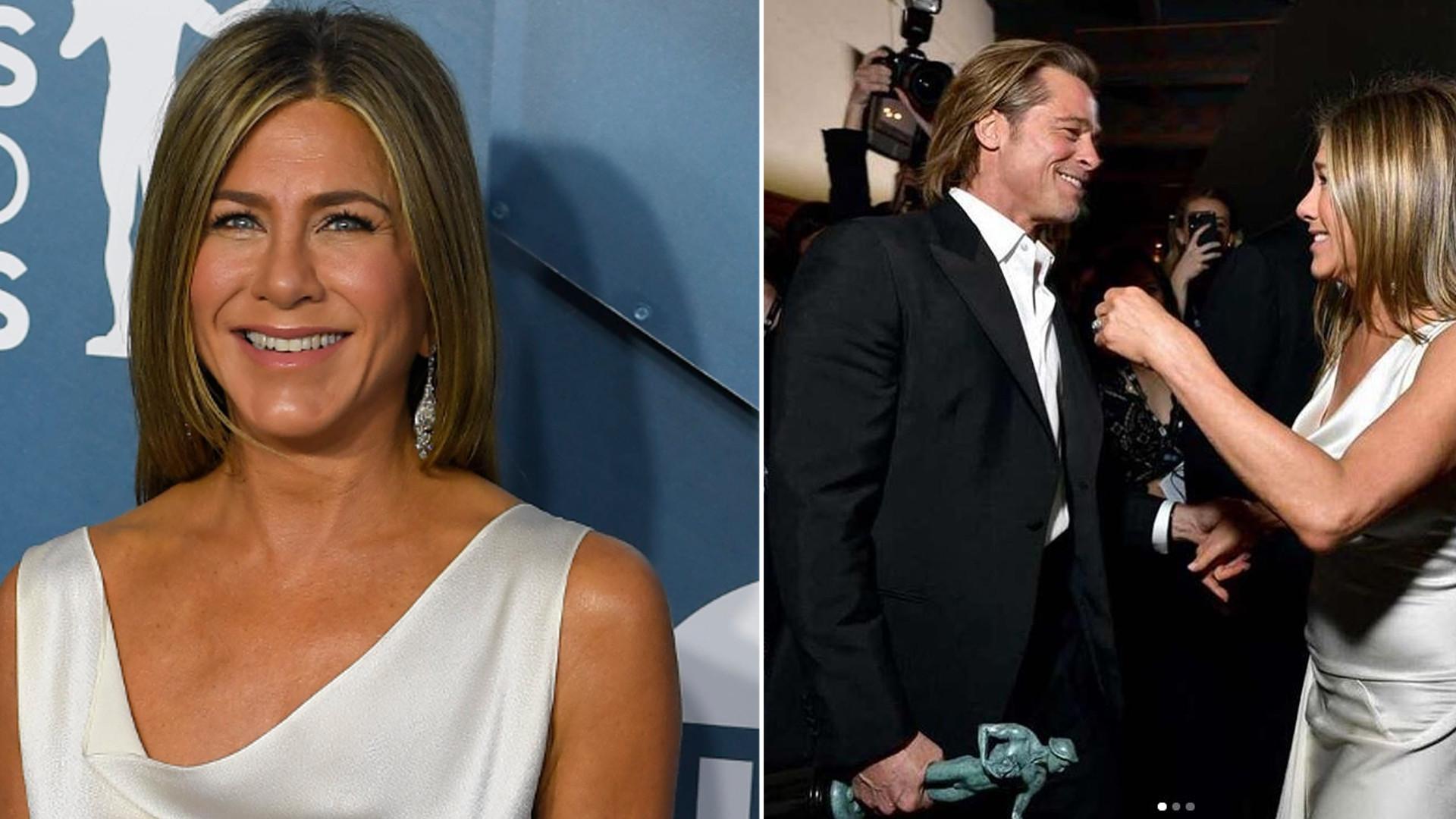 HIT! Jennifer Aniston i Brad Pitt ZA RĘKĘ na gali SAG (ZDJĘCIA)