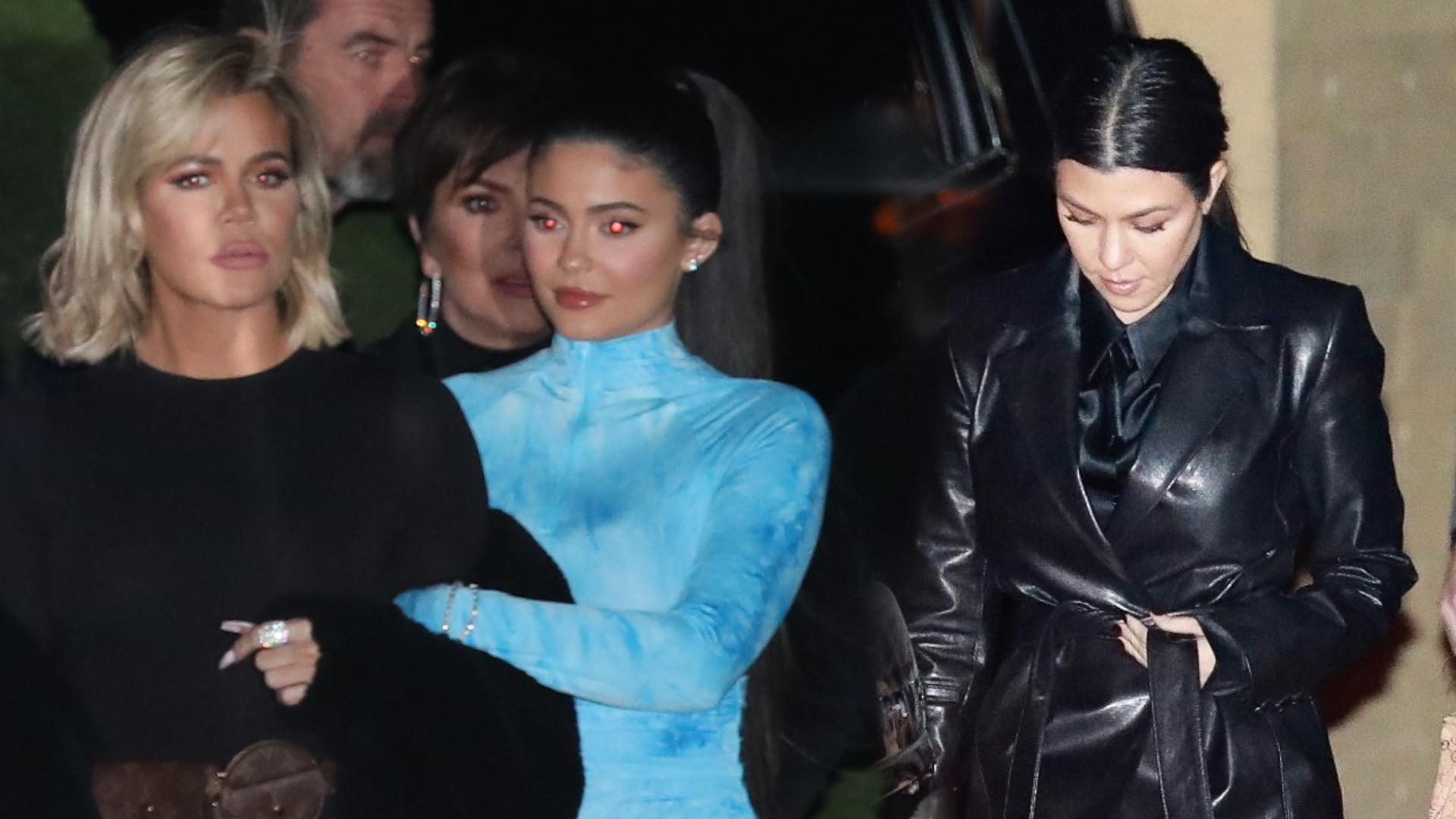 Rodzinna kolacja Kardashianów – Kylie Jenner ZASZALAŁA ze stylizacją! (ZDJĘCIA)