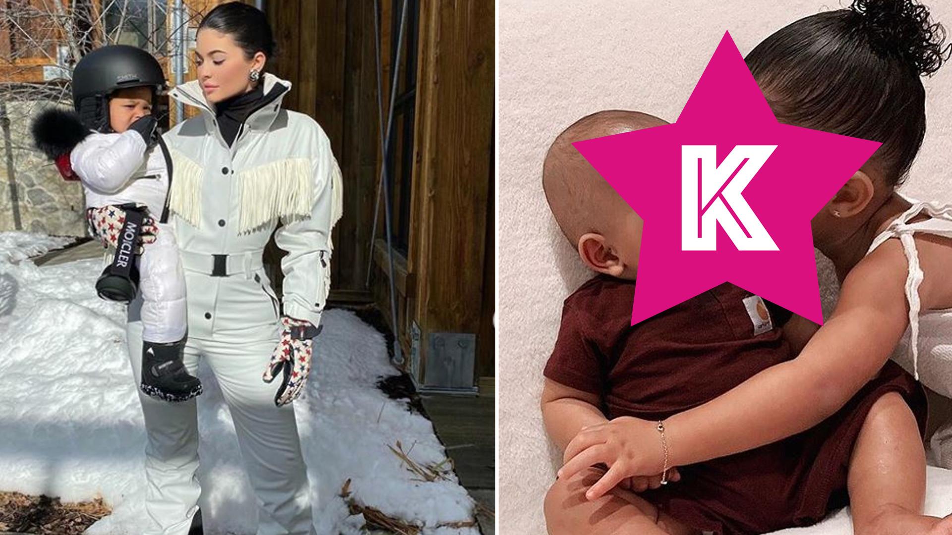 Kim Kardashian pokazała przesłodkie zdjęcie Stormi Webster całującej małego Psalma
