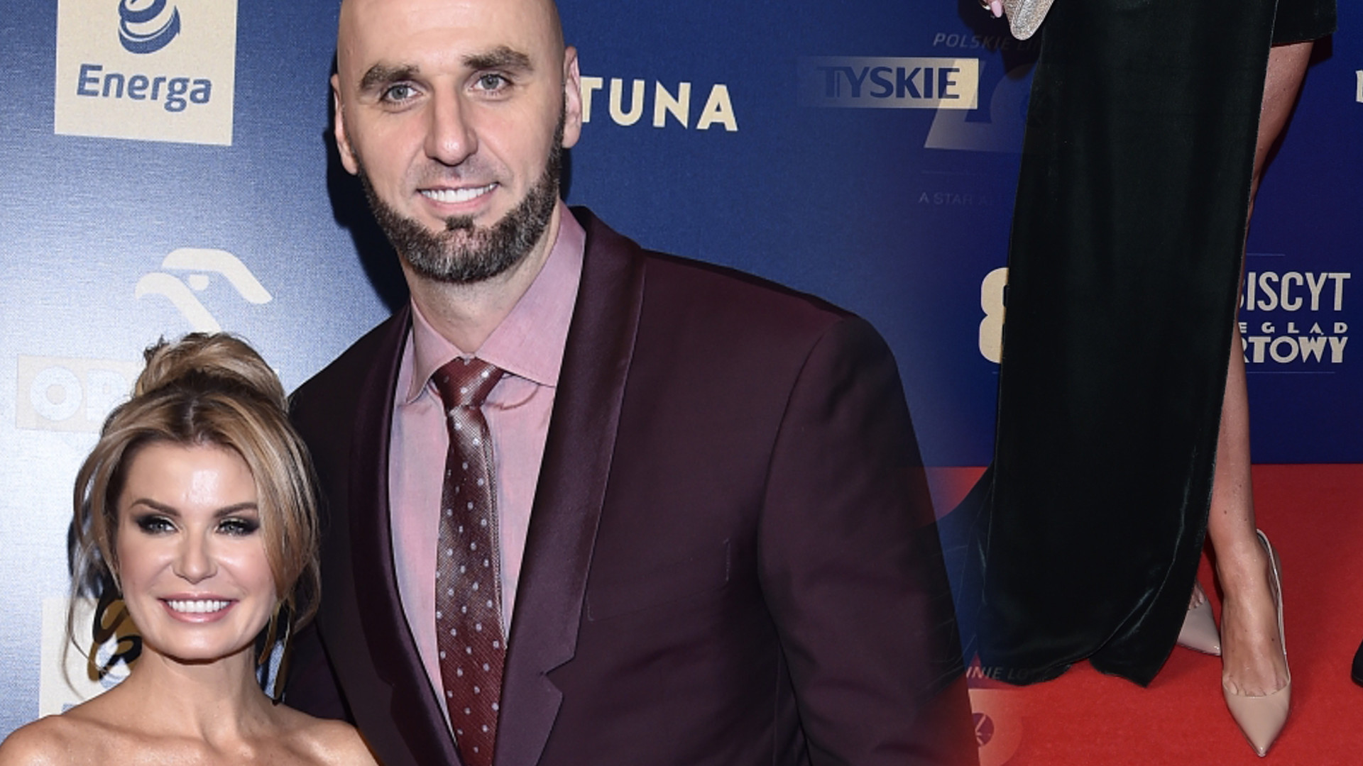 Marcin Gortat z partnerką na Gali Mistrzów Sportu. Postawiła na DEKOLT (ZDJĘCIA)