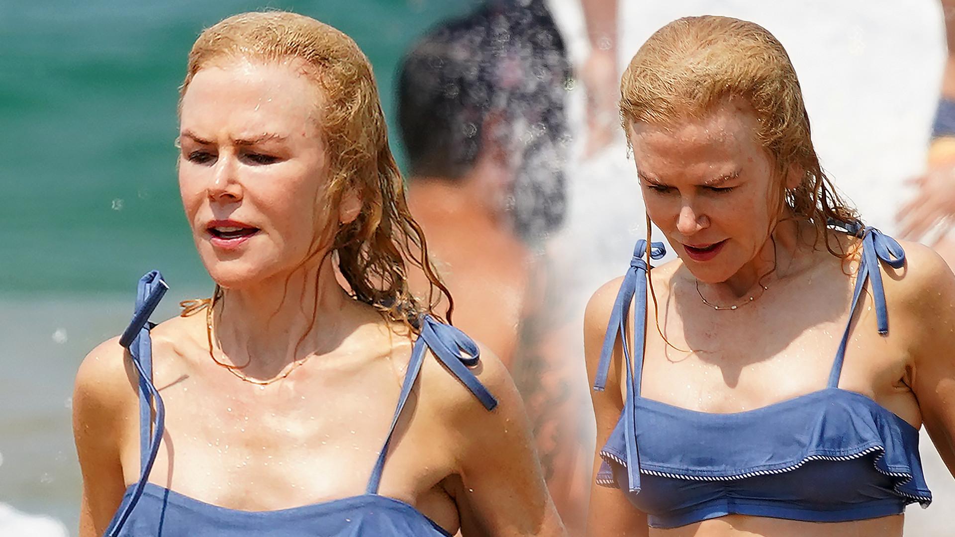 WOW! 52-letnia Nicole Kidman w BIKINI. Nie zobaczysz u niej OPONKI na brzuchu (ZDJĘCIA)