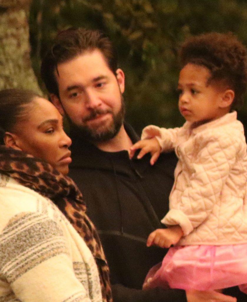 Serena Williams z mężem i córką