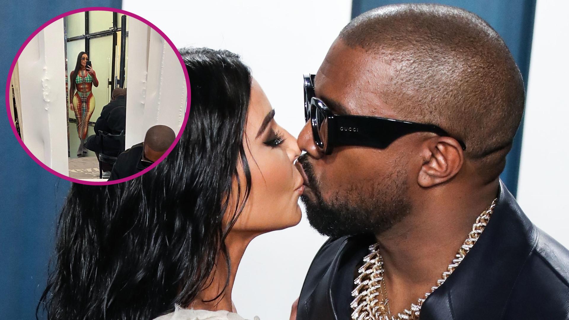 Kim Kardashian pokazała, co robi jej mąż, gdy ona przymierza ciuchy w butiku