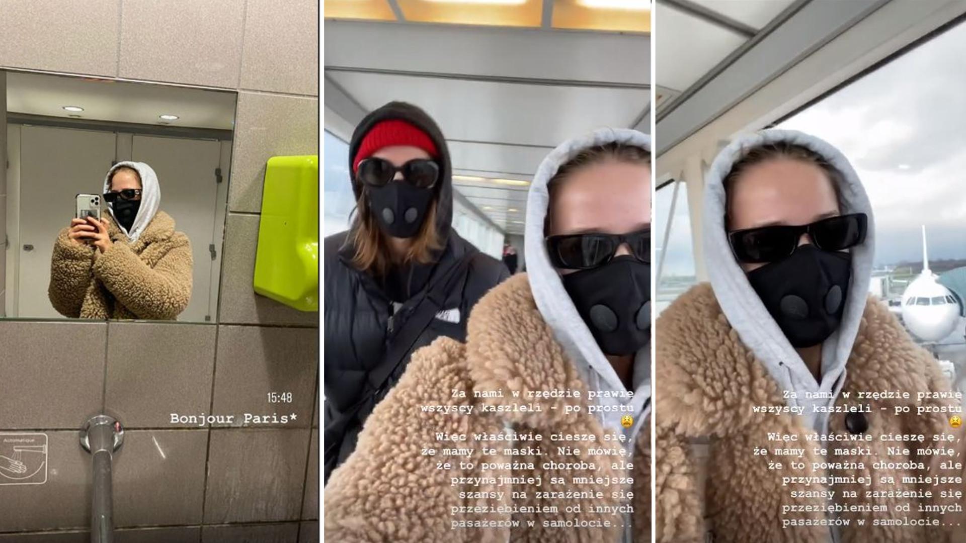 Jessica Mercedes wróciła z Mediolanu i poleciała do Paryża – w samolocie siedziała w masce, bo wszyscy kaszleli