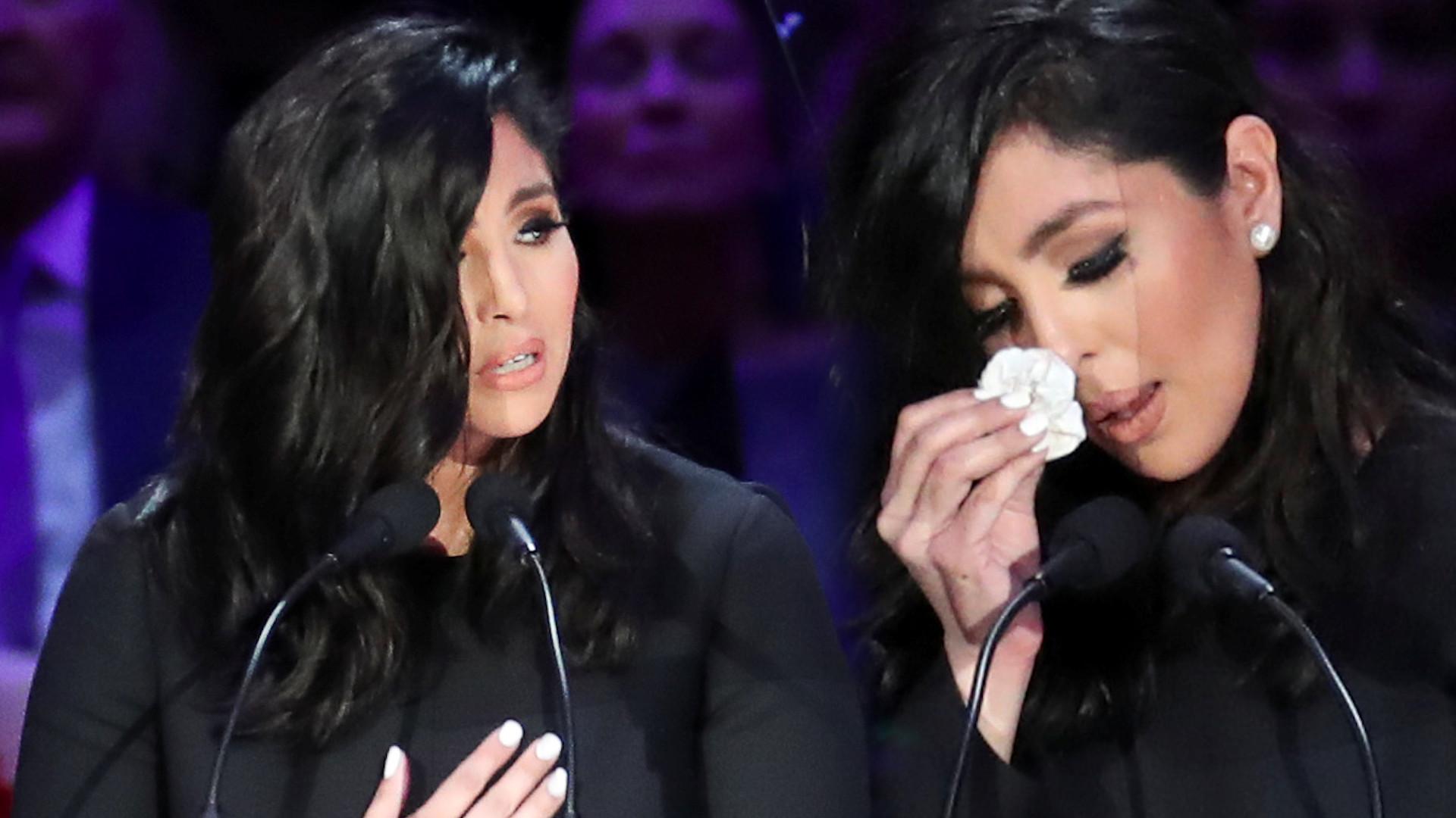 Pogrzeb Kobe Bryanta – Vanessa wygłosiła wzruszające przemówienie. Pozwała firmę do sądu