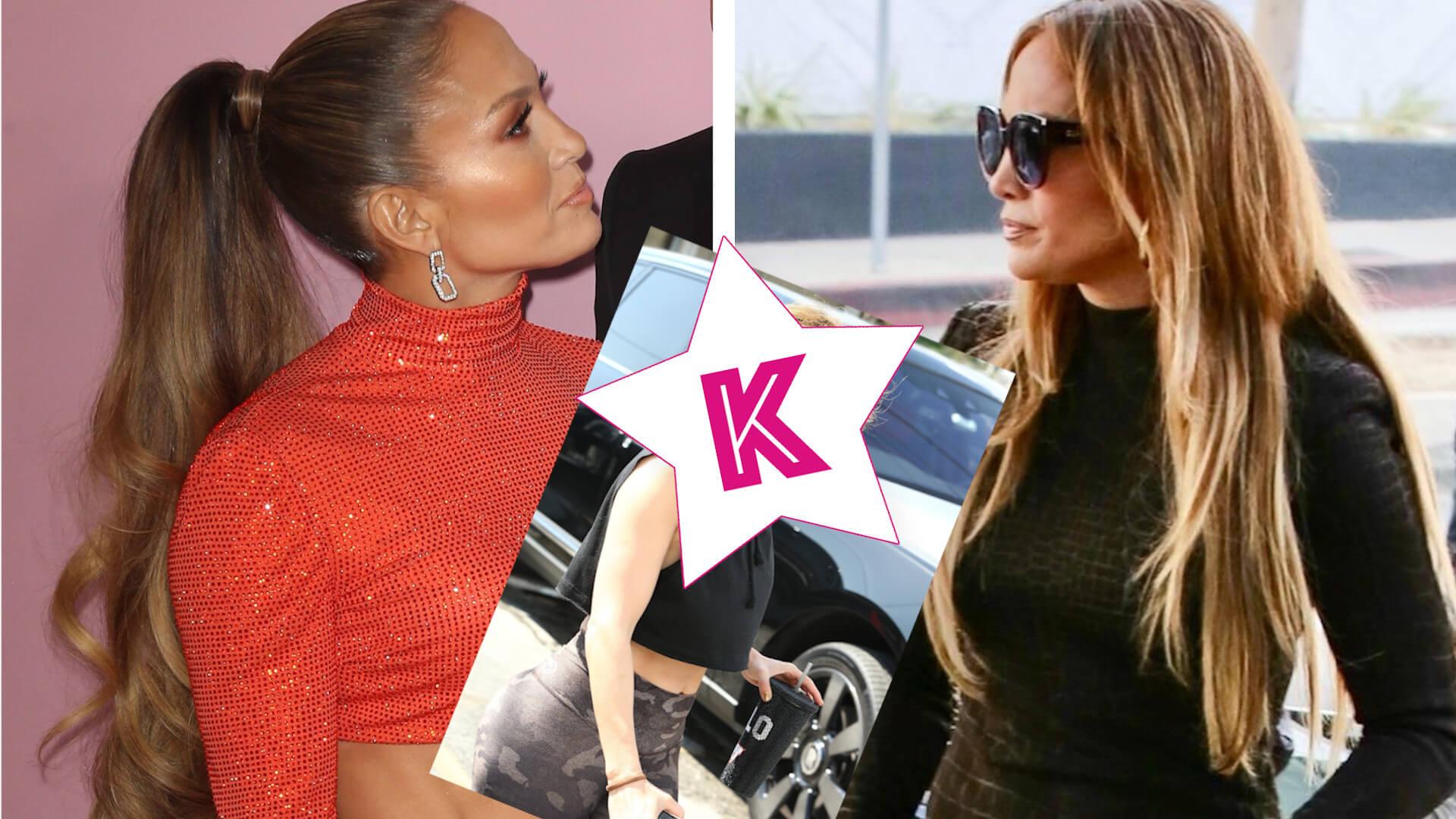 Jennifer Lopez BEZ DOCZEPÓW. Jej włosy nie są w dobrej kondycji